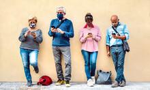 Senior People Using Mobile Sma...