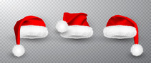 Red Santa Claus Hat Isolated O...