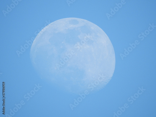 moon in the blue sky #379186959
