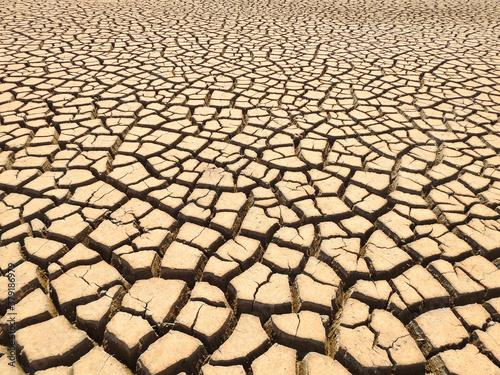 dry bottom of the reservoir #379186979
