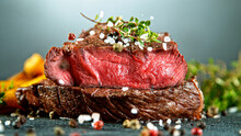 Close-up Of Tasty Beef Steak O...