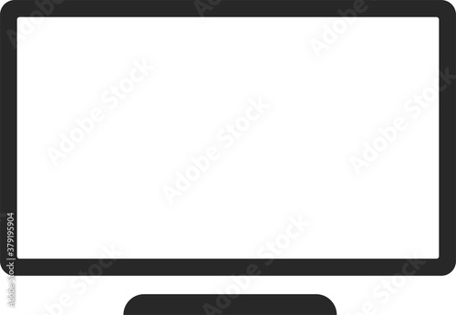 Outline tv icon isolated on white background Fototapet