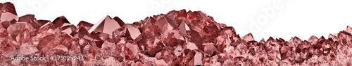 Fényképezés isolated red ruby long dark stripe