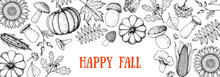 Hello Autumn Illustration. Aut...