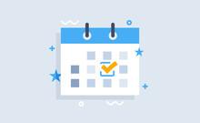 Calendar Deadline Or Event Reminder. Flat Modern Vector Illustration. For Web Design.