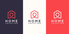 Home Location Logo Designs Tem...