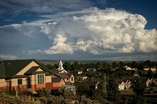 Storm Clouds Over Laramie Valley;  Wyoming