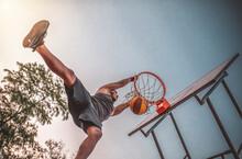 Basketball Street Player Makes...