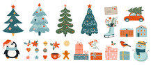 Collection Of Christmas Decora...