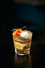Alcoholic Cocktail With Ice An...