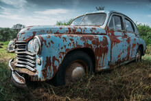 Old Abandoned Rusty Vehicle, F...