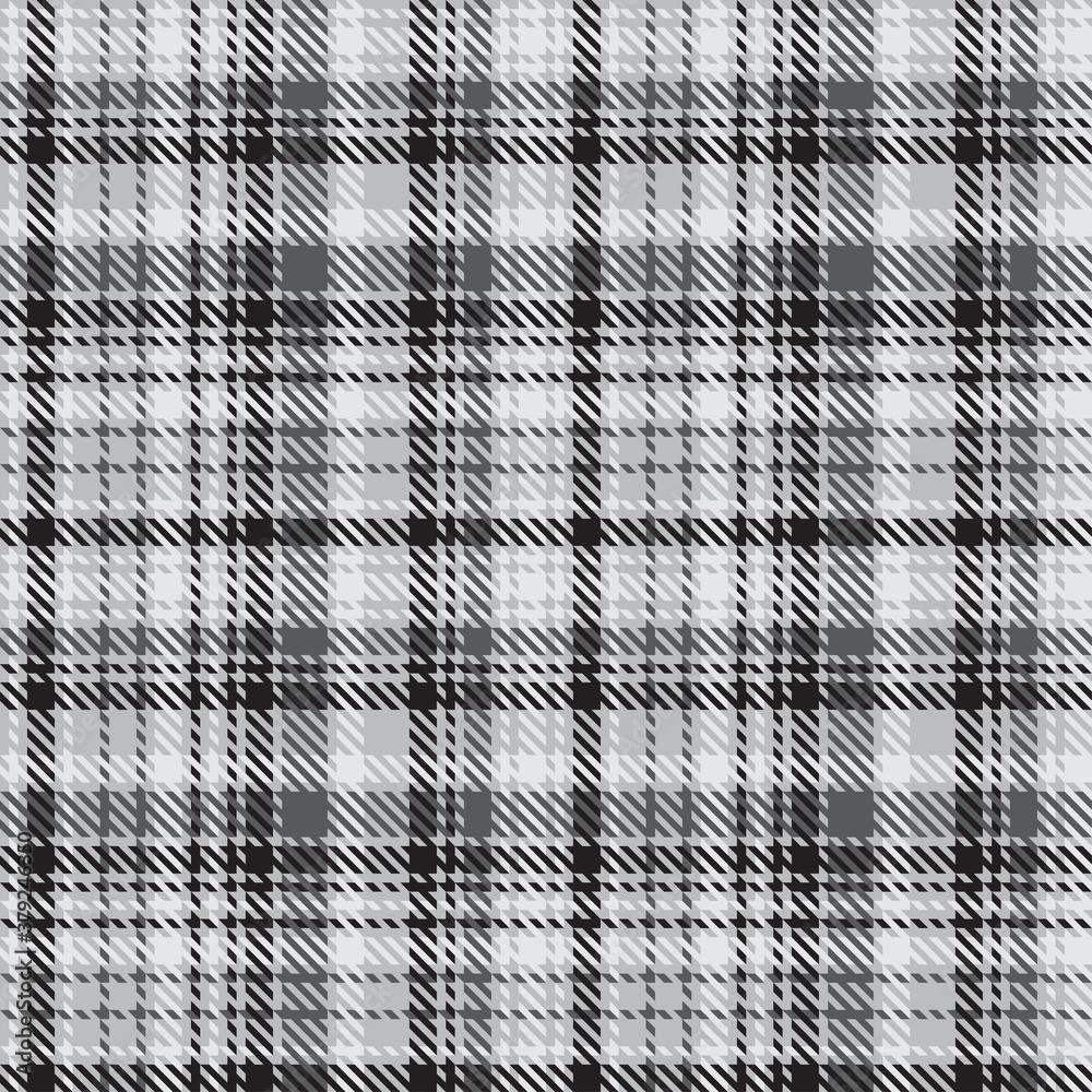 Fototapeta Black and white plaid pattern.