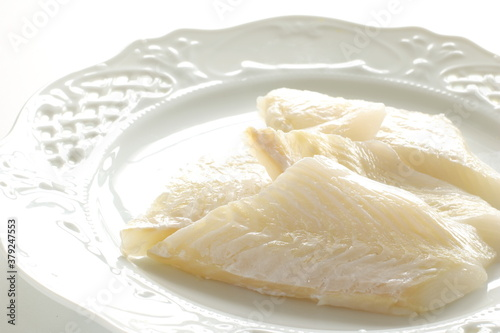 Tela freshness flat fillet fish on plate , for cooking ingredient