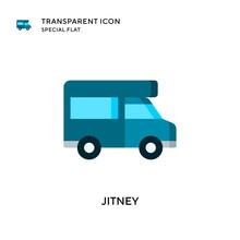 Jitney Vector Icon. Flat Style Illustration. EPS 10 Vector.