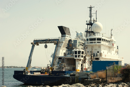 Obraz na plátně Sally Ride research vessel was built in 2016 and is viewed in its home port, Point Loma in San Diego Bay in California
