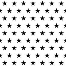 Seamless Pattern Of Stars. Vec...