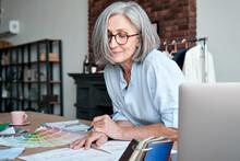 Middle Aged Stylish Woman Fash...