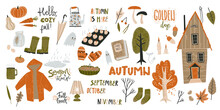 Big Collection Of Fall Doodle ...