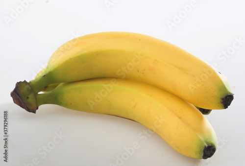 Fototapeta banana close up white background obraz na płótnie