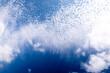canvas print picture - Himmel mit Wolken blau weiss Hintergrund Textur
