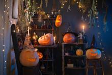 Halloween Pumpkins With Lights...
