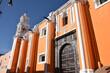 Grande église baroque à Puebla, Mexique