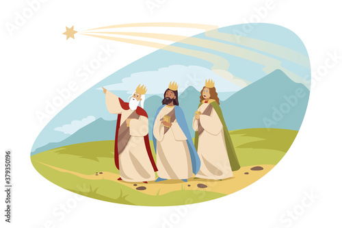 Leinwand Poster Feast of three kings, religion, bible, chritianity concept