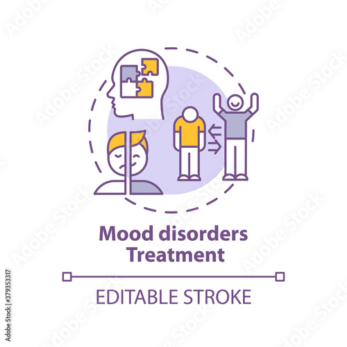 Tablou Canvas Mood disorders treatment concept icon