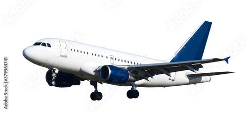 Photo modern airplane on isolated white background