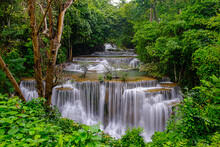 Huai Mae Kamin Waterfall In Ka...