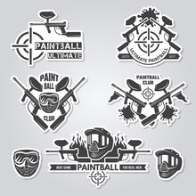 Paintball Labels. Sport Badges...