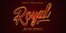Royal Text, Shiny Golden And Red Color Style Editable Text Effect
