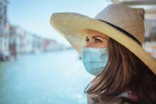 Woman Having Excursion On Vapo...