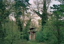 Porte En Bois Vestige De L'exposition Coloniale De 1907 Dans Le Bois De Vincennes à Paris