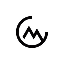 C M Cm Mc Initial Mountain Logo Design Vector Symbol Graphic Idea Creative