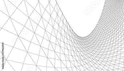 Obraz abstract architecture arch 3d illustration  - fototapety do salonu