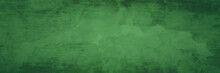 Green Christmas Background With Watercolor Texture And Abstract Black Grunge