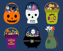 Set Of 6 Halloween Trick Or Tr...