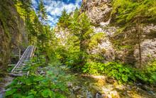 Mountain Landscape In The Juranova Dolina - Valley In The Western Tatras, The Tatra National Park, Slovakia, Europe.