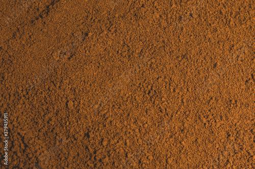 Fototapeta Close-up ground coffee texture background
