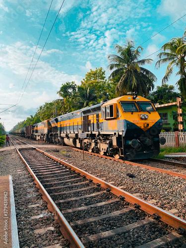 Photo train on the railway