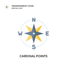 Cardinal Points Vector Icon. Flat Style Illustration. EPS 10 Vector.
