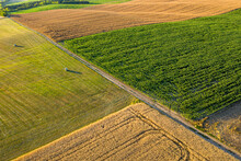 Aerial Photo About Fields.