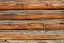 The Wall Of A Log House As A T...