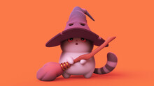 Surprised Kawaii Wizard Cat In...