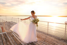 Gorgeous Bride In Beautiful We...