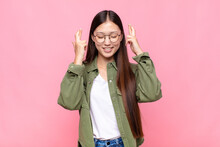 Asian Young Woman Smiling And ...