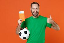 Cheerful Man Football Fan In G...