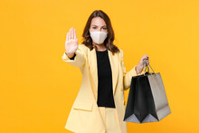 Woman In Suit Jacket Face Mask...