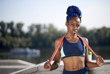 Portrait Of African Athlete Wo...